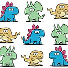 Cute Dinosaurs Pattern by Chuck Whelon