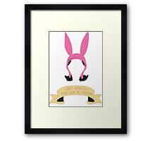 Louise of Sarcasm Framed Print