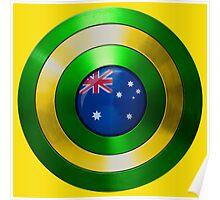 CAPTAIN AUSTRALIA - Captain America shield inspired Oz version Poster