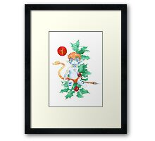 The Holly Tree Lugh Framed Print