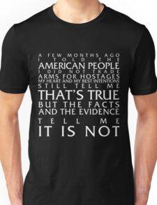 Ronald Reagan Iran-Contra Affair Apology? Unisex T-Shirt