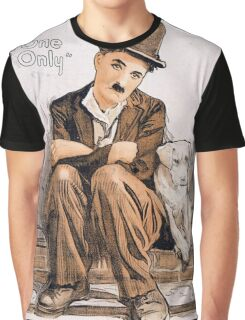 Charlie Chaplin A Dogs Life Graphic T-Shirt