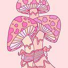 Pink Mushrooms by Octavio Velazquez