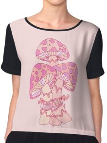 Pink Mushrooms Chiffon Top