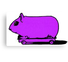 Retro Vintage Hamster on Wheels Illustration Canvas Print
