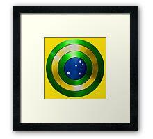 CAPTAIN AUSTRALIA - Captain America shield inspired Oz version Framed Print