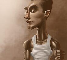 "Greg ""IdrA"" Fields Professional Gamer Caricature by drumok"