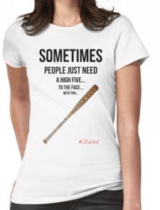 High Five Bat Womens Fitted T-Shirt