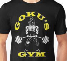 Goku's Gym (White and Yellow Logo) Unisex T-Shirt