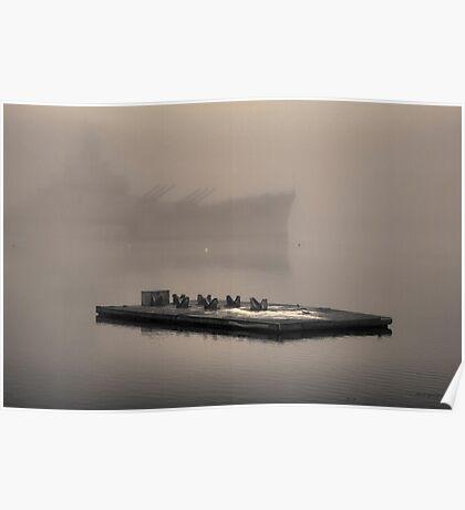 Battleship Cove Toned Poster