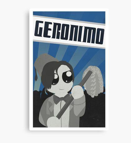 Geronimo! Propaganda Canvas Print