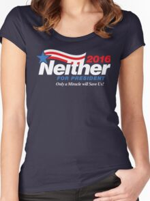 Neither For President Women's Fitted Scoop T-Shirt