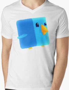 Cube Tweet Mens V-Neck T-Shirt