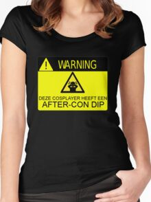 WARNING - AFTER-CON DIP (DUTCH VERSION) Women's Fitted Scoop T-Shirt
