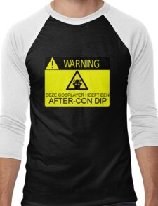 WARNING - AFTER-CON DIP (DUTCH VERSION) Men's Baseball ¾ T-Shirt