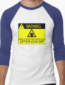 WARNING - AFTER-CON DIP (DUTCH VERSION) Men's Baseball ¾ T-Shirt