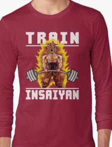 TRAIN INSAIYAN (Goku Deadlift) Long Sleeve T-Shirt