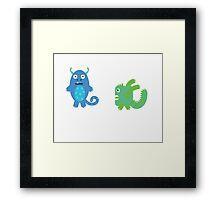 Monsters! Framed Print