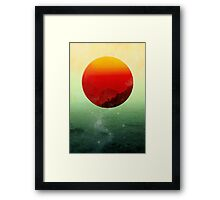 In the end the sun rises Framed Print