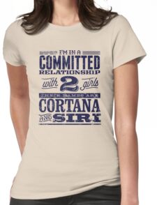 Cortana and Siri Womens Fitted T-Shirt