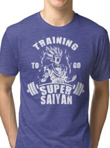 Training To Go Super Saiyan (Gohan) Tri-blend T-Shirt