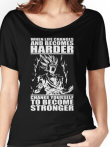 BECOME STRONGER (Teen Gohan) Women's Relaxed Fit T-Shirt