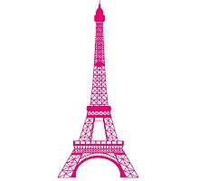 Hot Pink Eiffel Tower Photographic Print