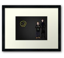 A Detective and His Army Doctor Framed Print