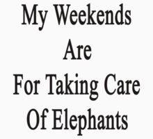 My Weekends Are For Taking Care Of Elephants  by supernova23
