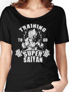 Training To Go Super Saiyan (Goku) Women's Relaxed Fit T-Shirt