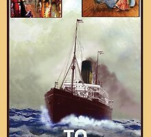 Steamship Poster V2 by Gerard Mignot