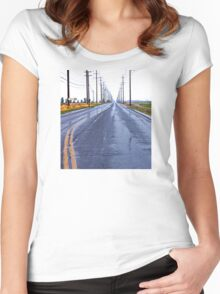 Rainy Country Road Women's Fitted Scoop T-Shirt