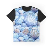 Sea Shells Aqua Graphic T-Shirt