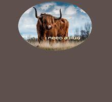VividScene:red Shaggy Bull needs a Hug. Unisex T-Shirt