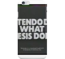 Nintendoes What Genesis Dont iPhone Case/Skin