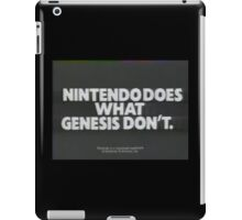 Nintendoes What Genesis Dont iPad Case/Skin