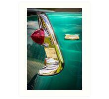 1956 Chevy tail light art Art Print