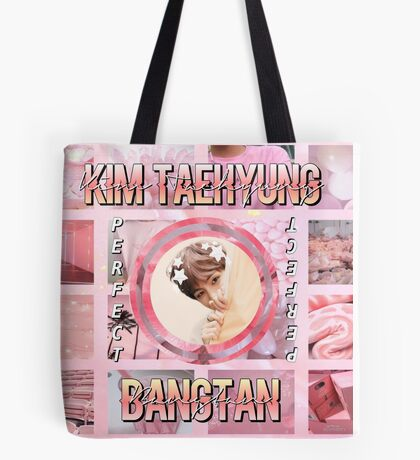 Pink Taehyung Perfect Edit Tote Bag