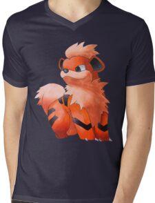 Pokemon Growlithe Mens V-Neck T-Shirt