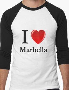 I love Marbella - I heart Marbella Men's Baseball ¾ T-Shirt