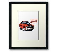 Ford Falcon XY GT HO Car toon, Freddy Framed Print