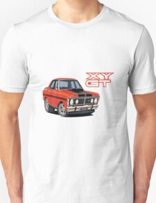 Ford Falcon XY GT HO Car toon, Freddy Unisex T-Shirt