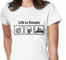 Knitting Life Is Simple Funny Rude T Shirt Womens Fitted T-Shirt