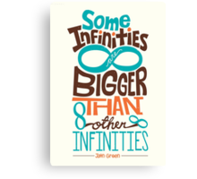 Some Infinities are Bigger Than Other Infinities Canvas Print