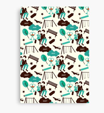 The Fault In Our Stars Pattern Canvas Print