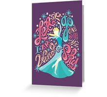 Frozen: Let it Go Greeting Card