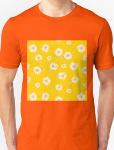 Cute,yellow,white,green,flowers,1970's,retro,vintage,floral,pattern Unisex T-Shirt