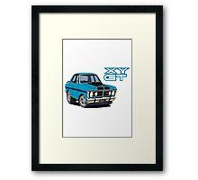 Ford Falcon XY GT HO Car toon, Bluey Framed Print