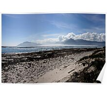Seaside Canvas in Blue Poster