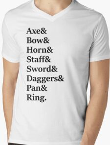 Lord of the Rings - Fellowship Mens V-Neck T-Shirt